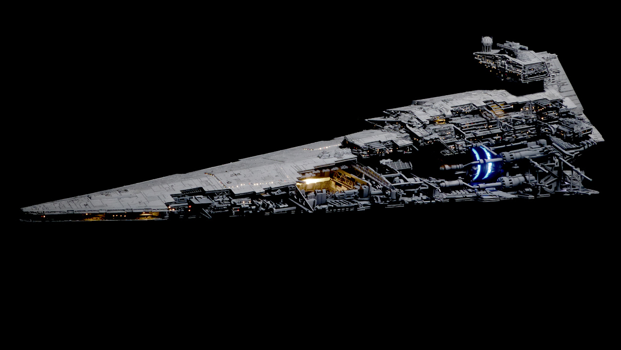 Star Destroyer Cut-away / 1:5000 / autor: Dorobou