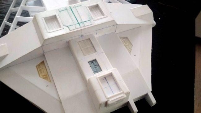 VCX-100 Ghost (Rebels/Rogue 1) / 1:144 / Scratch build #1 autor: Peter_D