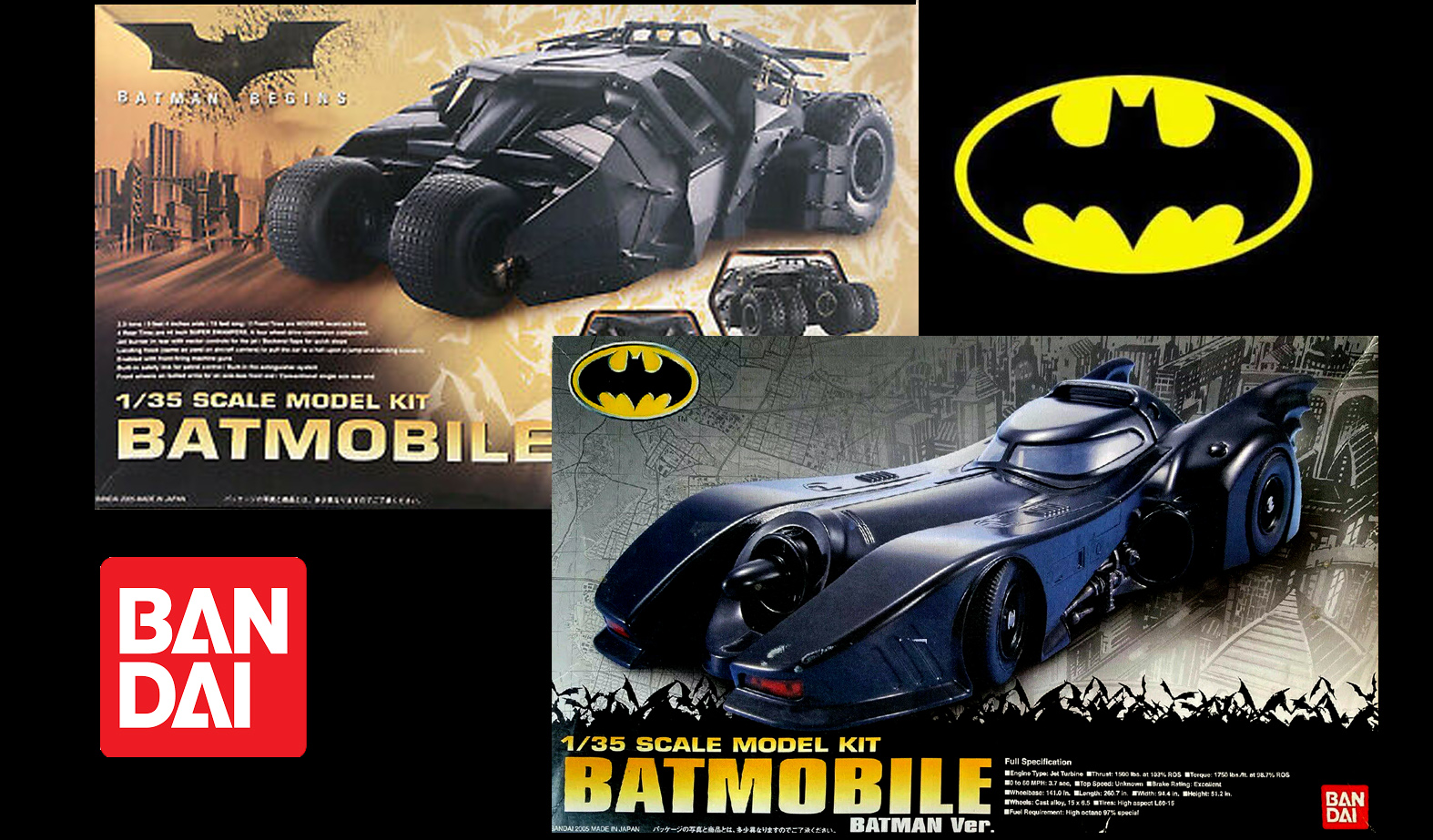 Bandai wznawia modele pojazdów Batmana